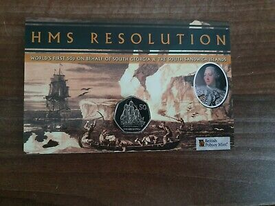 HMS Resolution - 2020 Uncirculated Cupro Nickel Diamond Finish 50p LIMIT 2750