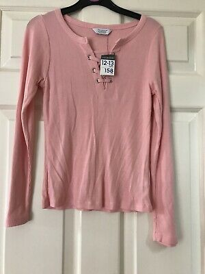 Lovely Girls Pink Long Sleeved Top/T-Shirt From Primark Age 12-13 Years