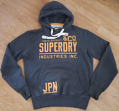 SuperDry Men/'s Limited Vintage Hoody Pullover Navy//Blue//Grey