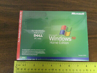 Microsoft Windows XP Home Edition Software Version 2002 For Dell p/n 08K233 New
