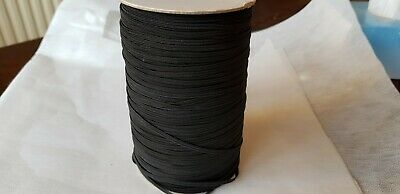 5 Meters of 5mm thin flat black elastic. Good quality woven for sewing projects