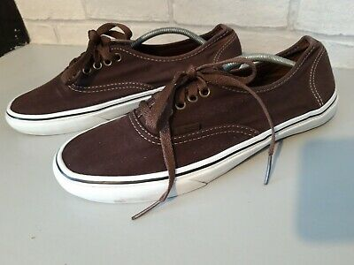 Vans Off The Wall Brown Canvas Trainers Size 9
