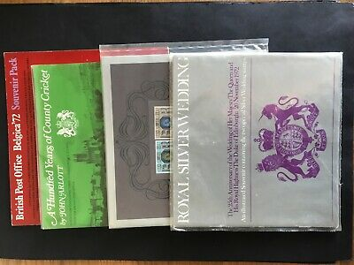 GB 1972 Etc Four Stamp Booklets County Cricket/Silver Wedding/Jubilee