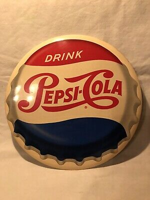 "1951 Pepsi Celluloid - Drink Pepsi-Cola -  9"" in diameter"