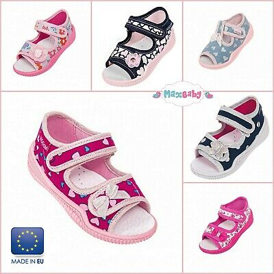 Toddler Girls Kids Summer Sandals Beach Occasion Shoes Leather Insole Size 4-8.5
