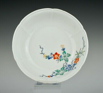 Fine late 17th C Japanese porcelain, Kakiemon enamelled dish, ~1690-1700