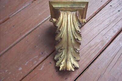 Gold Finish Shelf  leaf plaster Wall Corbel Sconce Bracket Home Décor 9""