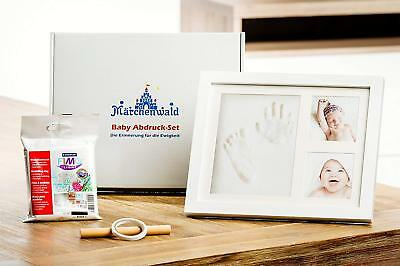 Märchenwald Baby Imprint Set Picture Frame With Gypsum Staedtler Gips. Christmas