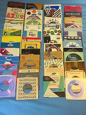 45RPM Company Branded Sleeves - LOT of 49 Rare Vintage Sleeves (S1)