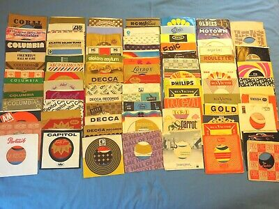 LOT of 90 Vintage Company 45RPM Sleeves - 1950's-1980's All Pictured (S2)