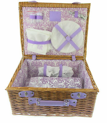 Downton Abbey Picnic Basket wicker hamper  basket with utensils BRAND NEW BOXED