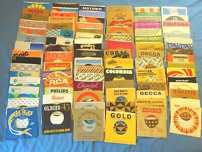 45RPM Company Sleeves - LOT of 90 - ALL PICTURED (S4)