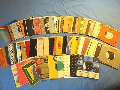 LOT of 90 Company 45RPM Sleeves - ALL PICTURED - 1950's-80's (S5)