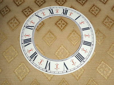 "Vienna Style Paper (Card) Clock Chapter Ring- 5"" MINUTE TRACK-GLOSS CREAM -Parts"