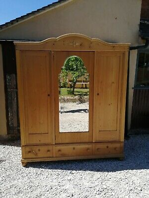 Antique Pine Knock Down Triple Wardrobe  - Delivery & Assembly Available