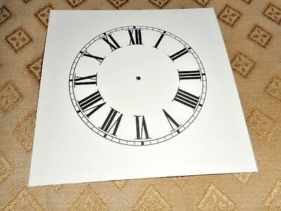"Mantle/Shelf Paper (Card) Clock Dial - 3 3/4"" MINUTE TRACK- Roman -Cream-Spares"