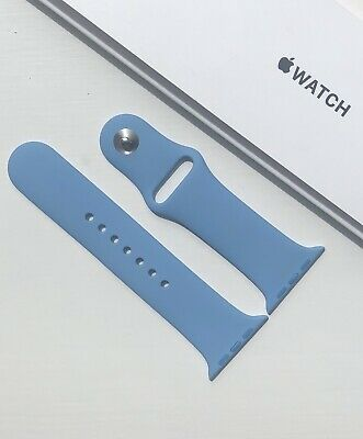 NEW GENUINE APPLE WATCH SPORT BAND 42/44mm CORNFLOWER **RARE**