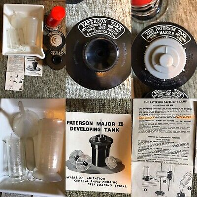 Vintage Paterson Devloping Tanks & Kit Bundle