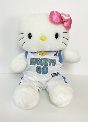 Build A Bear Hello Kitty Plush Doll Nuggets Basketball Outfit