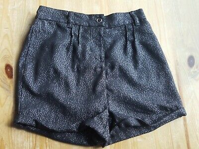 Girls black with silver glitter detail shorts from George Age 7-8 years party