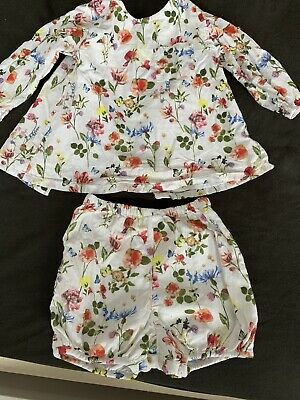 M&s Top And Shorts Summer Set Girl 3-6 Months
