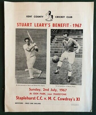Stuart Leary's Benefit Brochure, 2nd July 1967, Kent Cricketer and Footballer.