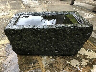 Original Antique Welsh Stone Garden Trough