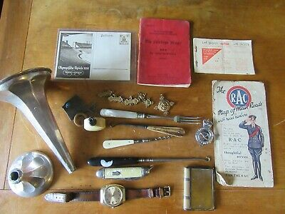 Mixed Joblot Militaria Solid Silver And Collectables