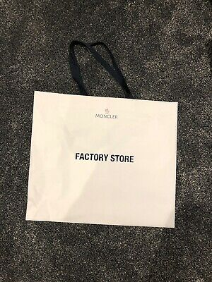 White Gift Carrier Bag With Handles Moncler Factory Store