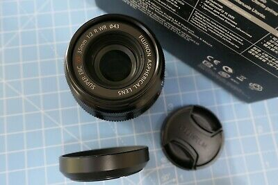 Superb Fujifnon XF 35mm F/2.0 R WR Fuji X Mount Lens Black BOXED MINT CONDITION
