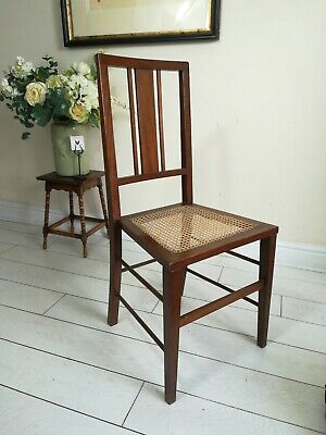 Antique Mahogany Cane Chair bedroom chair