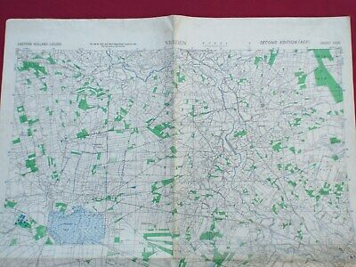 Us Army Military Map, Vreden Germany 1944 Printed On Captured Map Of Scotland