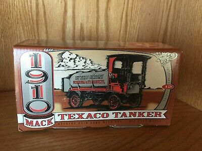Texaco 1910 Mack Tanker Die Cast Coin Bank Collectible in Box