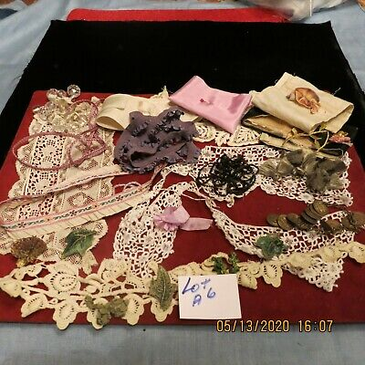 -ANT.- VGT. unique GOODIES TRIMS ROSETTE COIN TASSELS +LACE BEAD MORE   = LOT A6