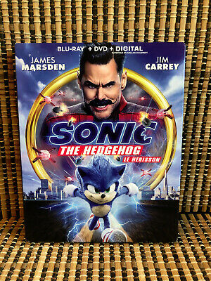 Sonic the Hedgehog: The Movie (2-Disc Blu-ray/DVD, 2020)+Slipcover.Jim Carrey