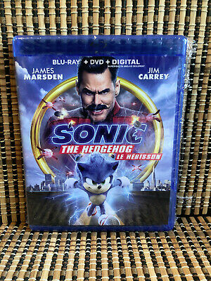 Sonic The Hedgehog: The Movie (2-Disc Blu-ray/DVD, 2020)Jim Carrey/James Marston