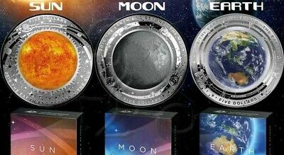 Austrailian Silver Coin Set: Earth And Beyond - The Complete Set