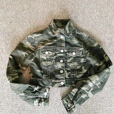 New Look 915 age 9 khaki camouflage denim button jacket
