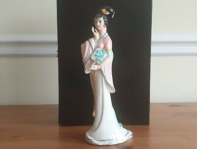 Old Vintage Chinese Porcelain Statues Chinese Women Hand-Painted