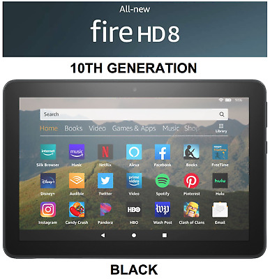 "NEW Amazon Fire HD 8 Tablet With Alexa 8"" Display 32GB (7th Gen) - BLACK"