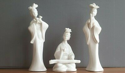 Set of 3 Vintage Chinese Porcelain Statues Chinese Women figurines