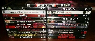 Lot of 42 Horror/Sci-Fi Movies on 28 DVDs — Zombies, Ghosts, Slashers, Creatures