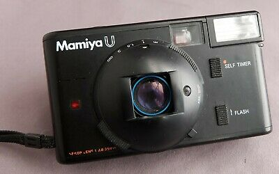 Vintage Mamiya U 35mm point-and-shoot film camera - all working well