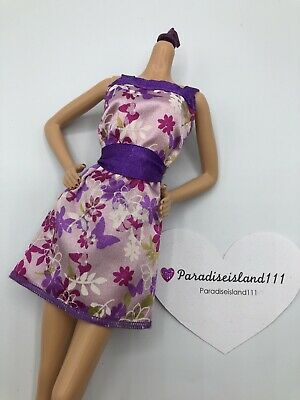 Barbie Doll Clothing Fashion Purple Butterfly Floral Summer Dress