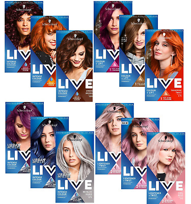 Schwarzkopf Live Intense Colour Permanent,Semi Permanent Hair Dye-VariousColours