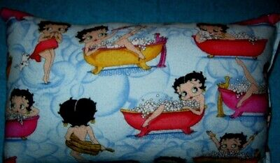 NEW Betty Boop in the Tub Collectible Travel Pillow Rare OOP Material