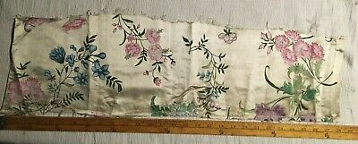 Antique Silk Textile Hand Painted Japanese Fragment for Study