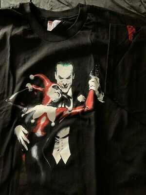 *New* Graphitti Alex Ross Joker And Harley Quinn Dc Premium T-Shirt Xxl 2Xl