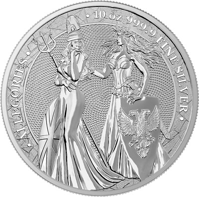 Germania 2019 50 Mark The Allegories – Britannia & Germania 10Oz 999 Silver Coin
