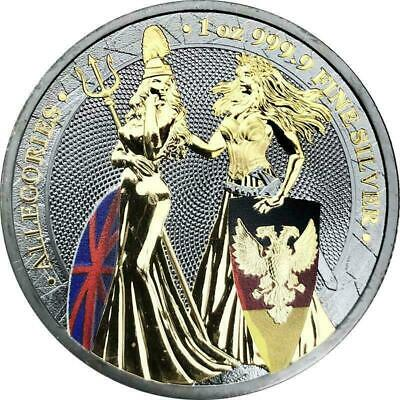 Germania 2019 5 Mark Germania & Britannia - Ruthenium 1 Oz Silver Coin